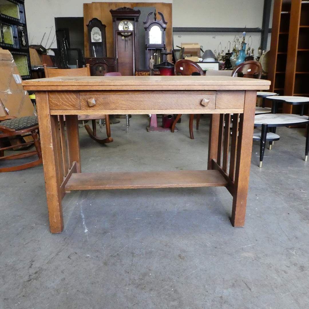 Lot # 103 - Antique Cadillac Desk-Table with Pull out Writing Desk and Storage (main image)