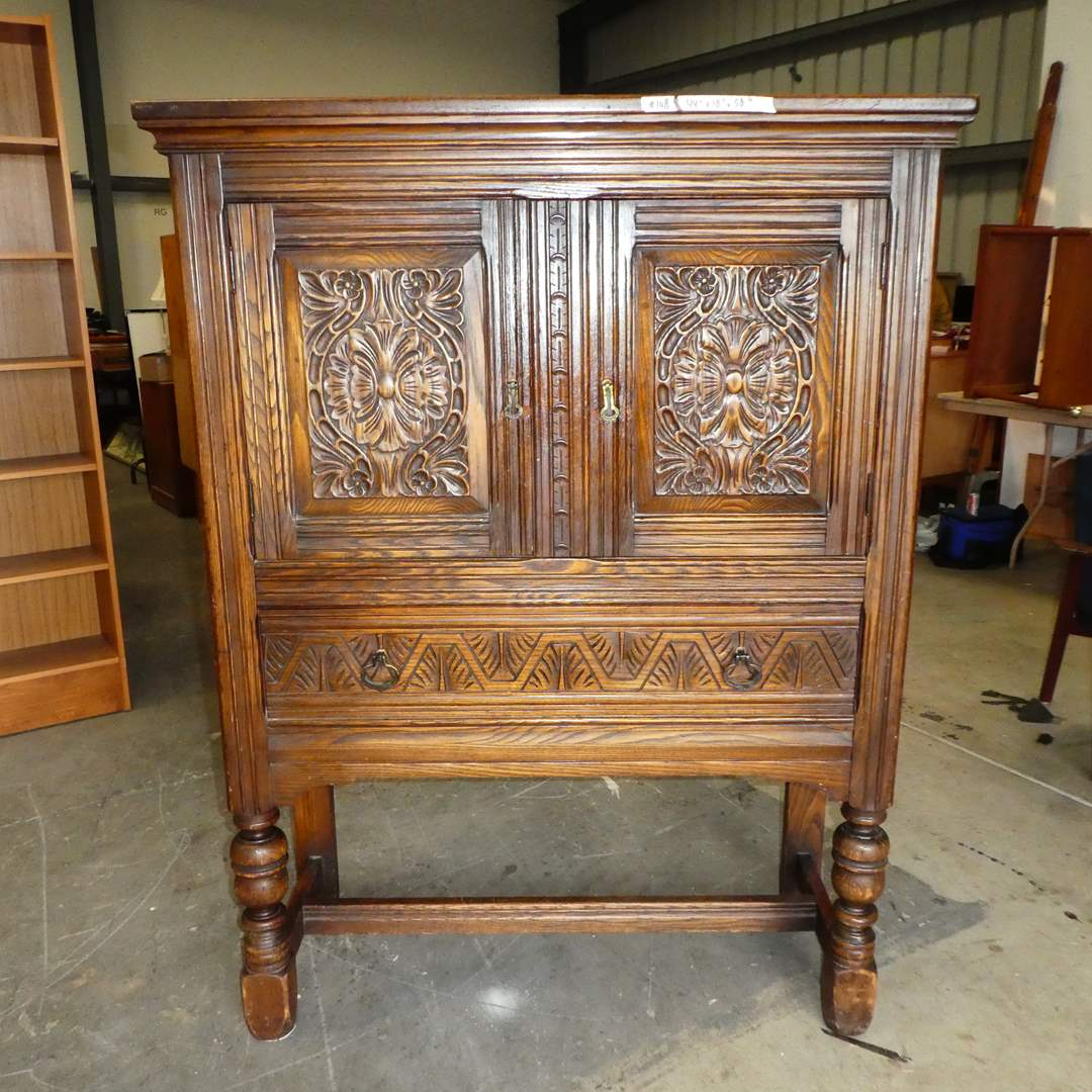 Lot # 108 - Beautiful Antique Berkey and Gay Carved China Cabinet (main image)