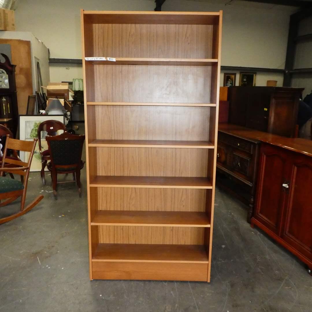 "Lot # 113 -Nice Tall BookShelf w/ ""Wood Finish"" (main image)"