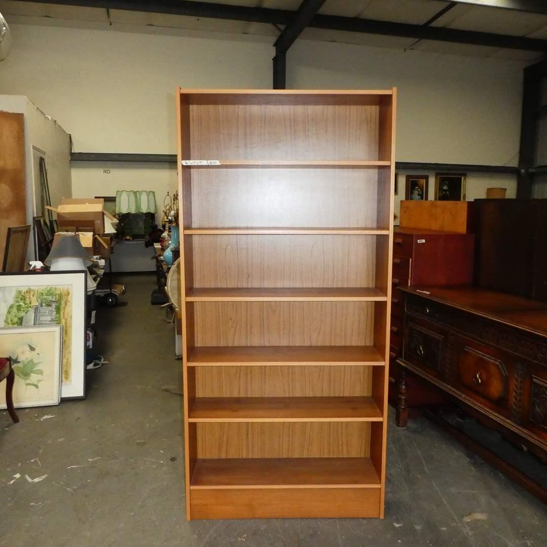 "Lot # 114 -Nice Tall BookShelf w/ ""Wood Finish"" (main image)"