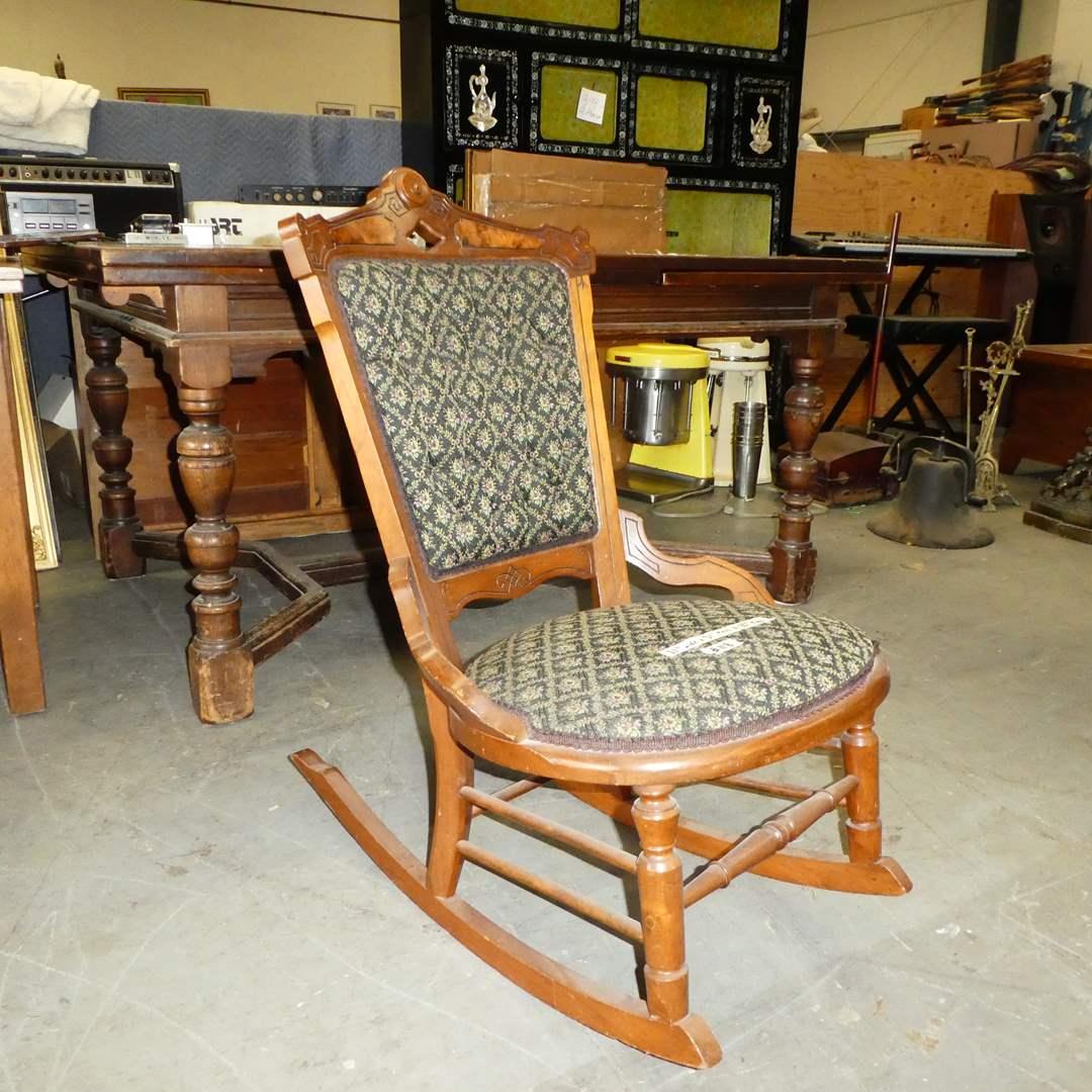 Lot # 118 - Antique Eastlake Rocking Chair (main image)