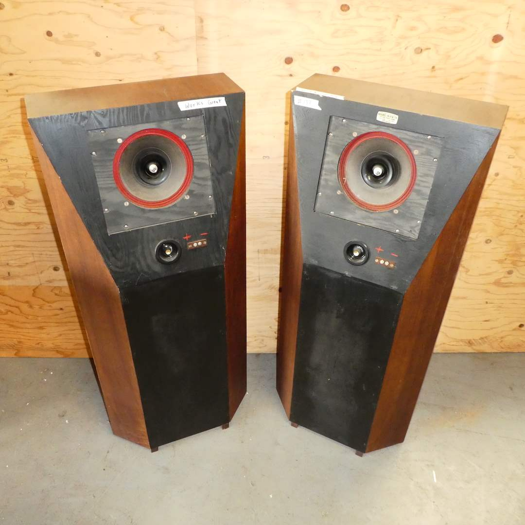 Lot # 139 - Two Large Custom Made Speakers  (main image)