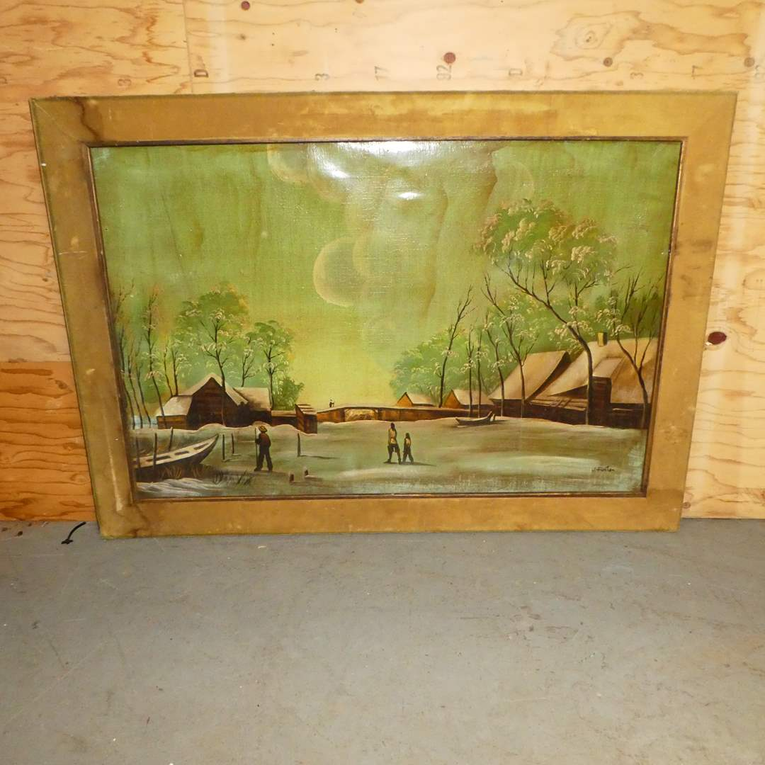Lot # 151 - Framed Oil on Canvas (main image)