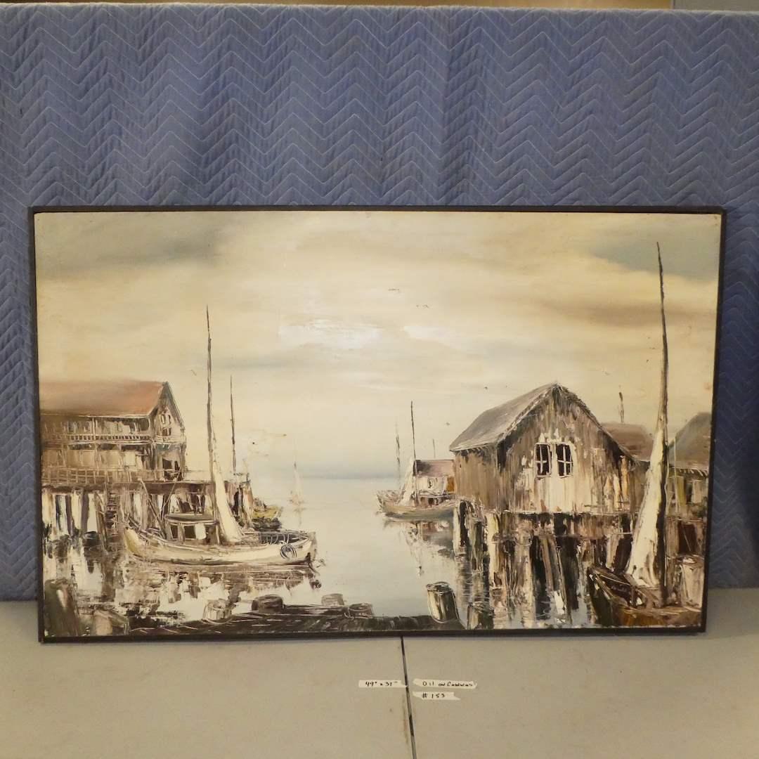 Lot # 153 - Original Oil On Canvas (main image)