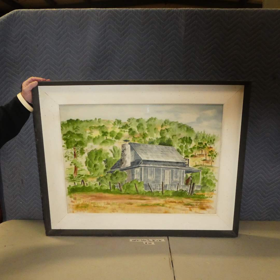 Lot # 154 - Cute Original Framed Watercolor (Dated 1962) (main image)
