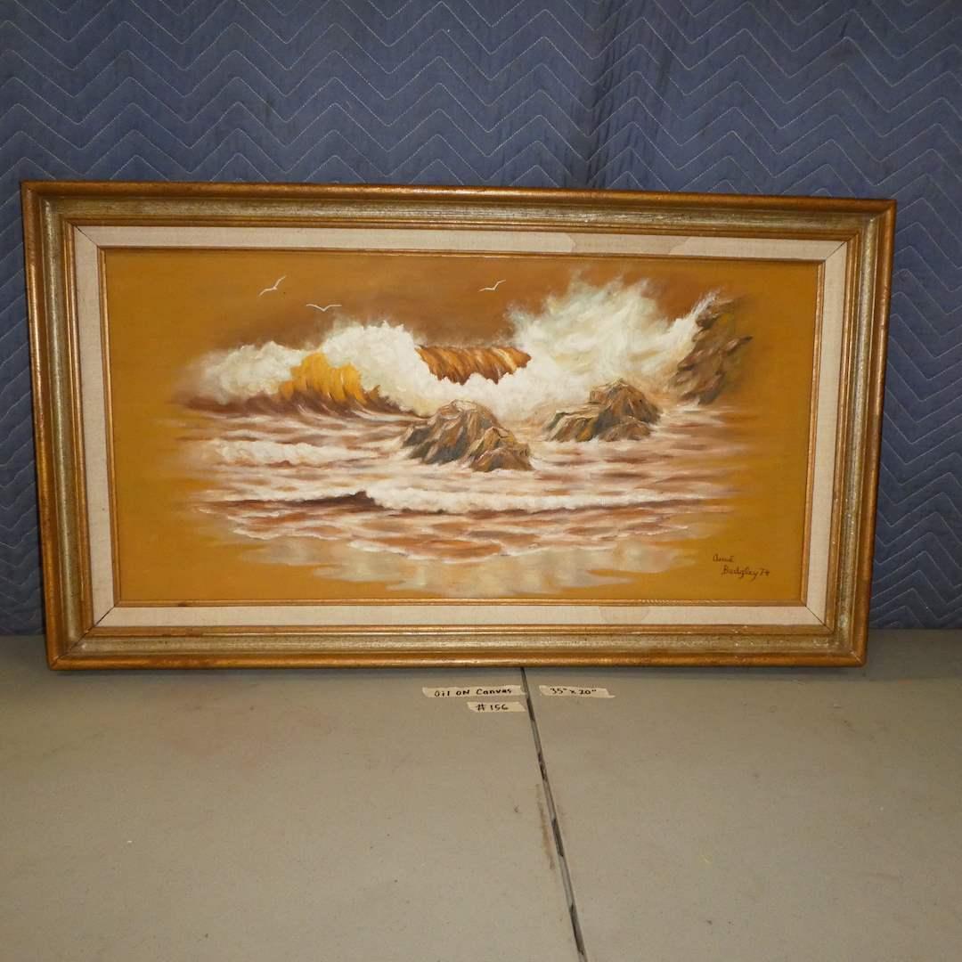 Lot # 156 - Unique Framed Original Oil on Canvas (main image)
