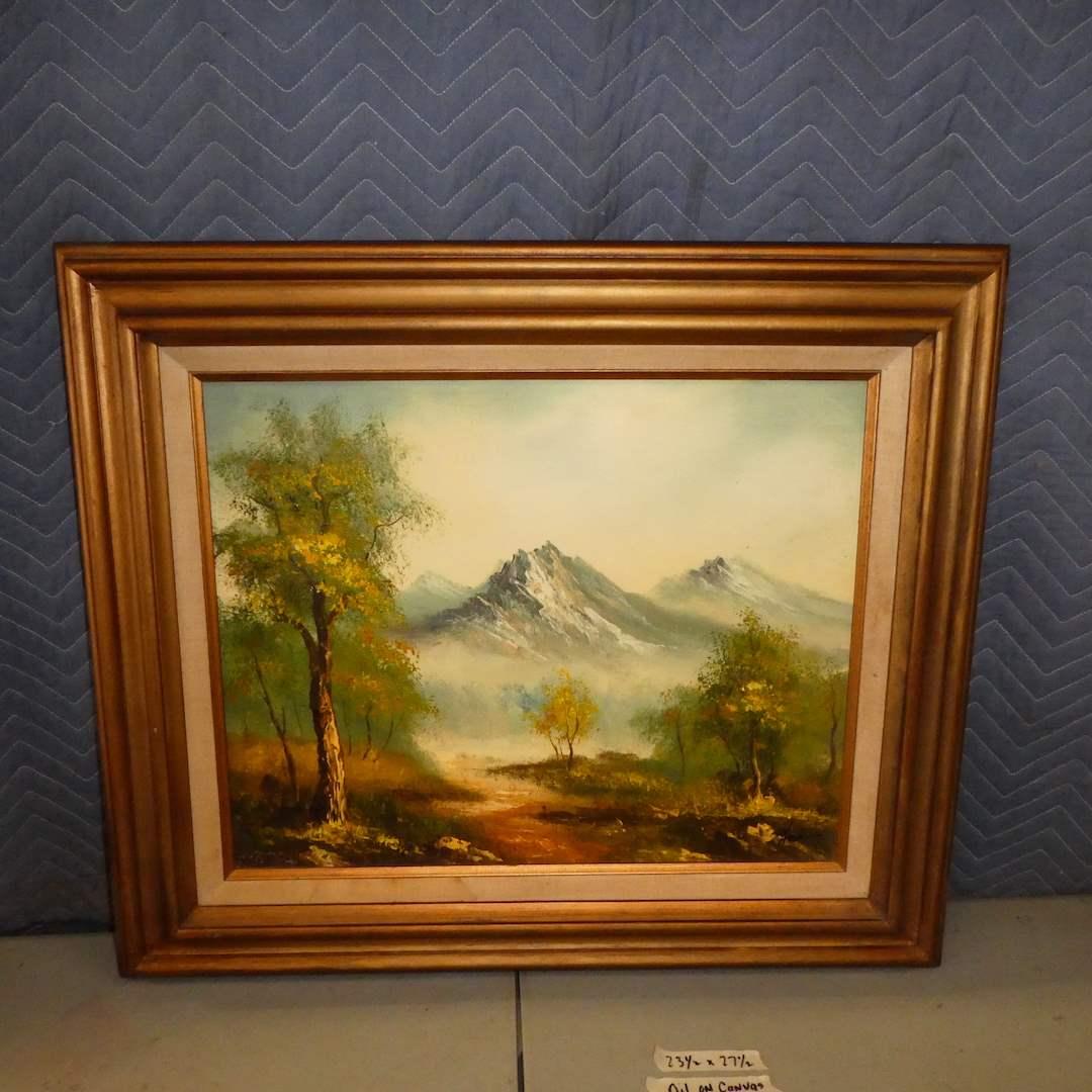 Lot # 160 - Framed Original Oil on Canvas  (main image)