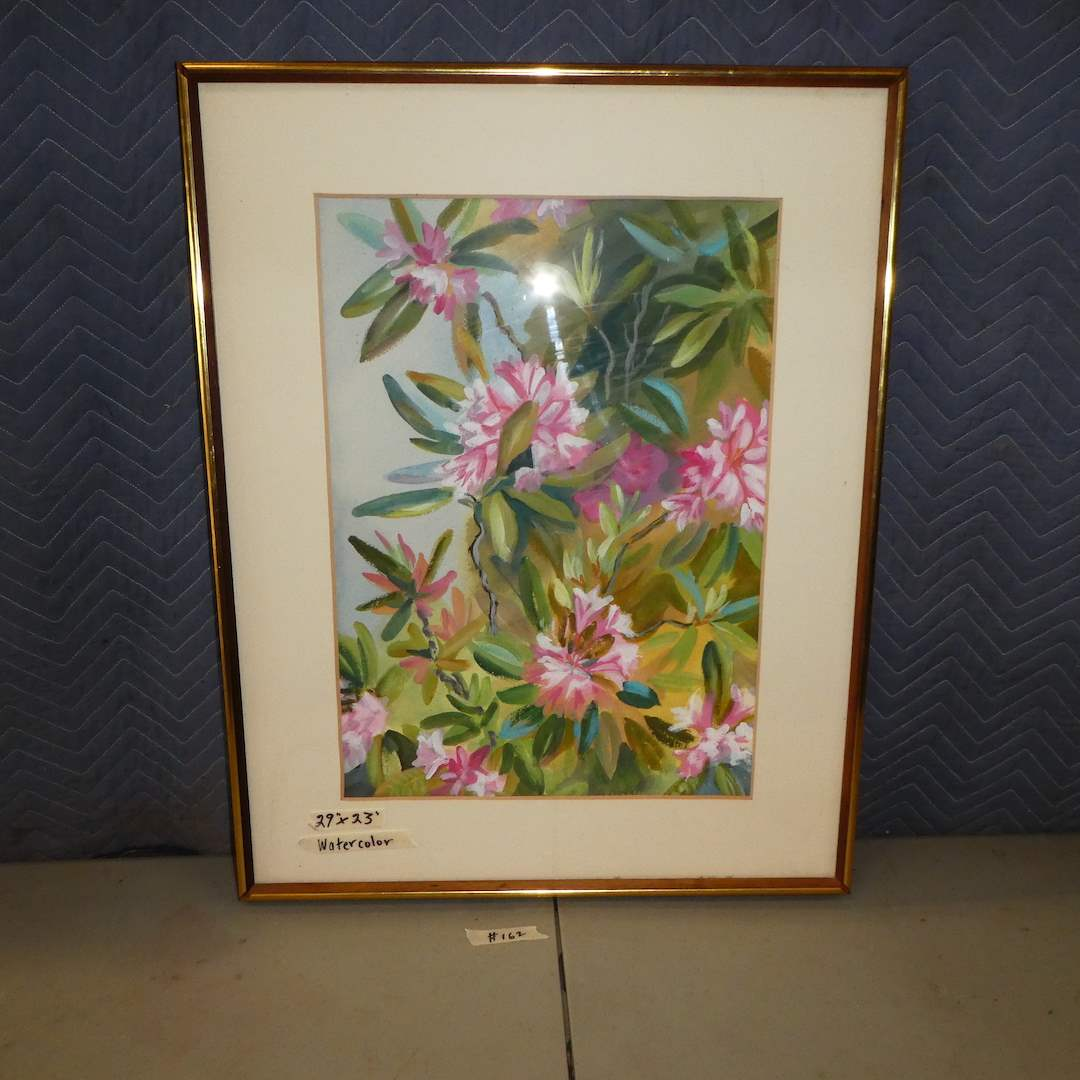 Lot # 162 - Cute Framed Original Watercolor (Dated on Back 1972) (main image)