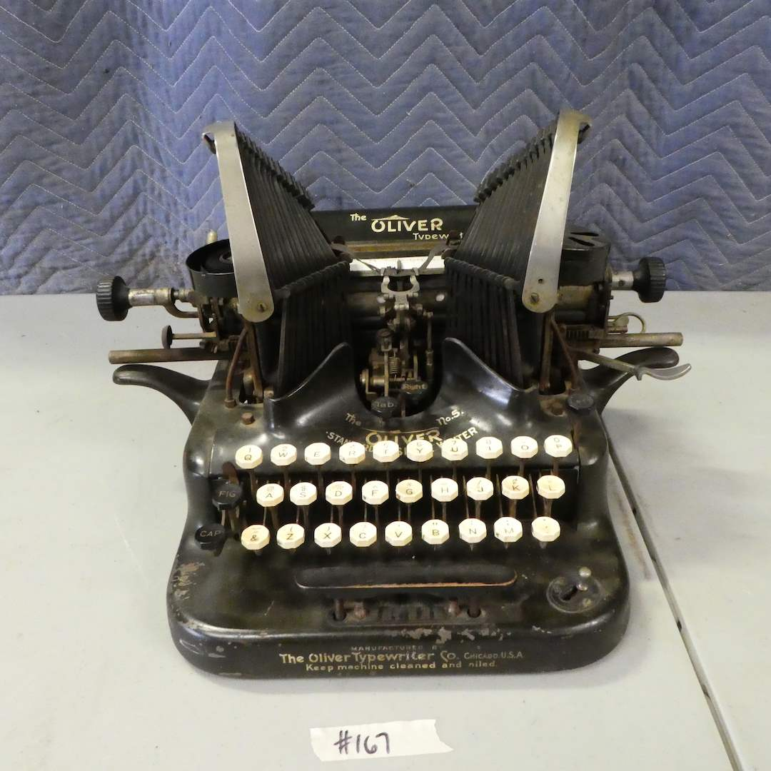 Lot # 167 - Antique Oliver Type Writer No. 5 (In Great Condition) (main image)
