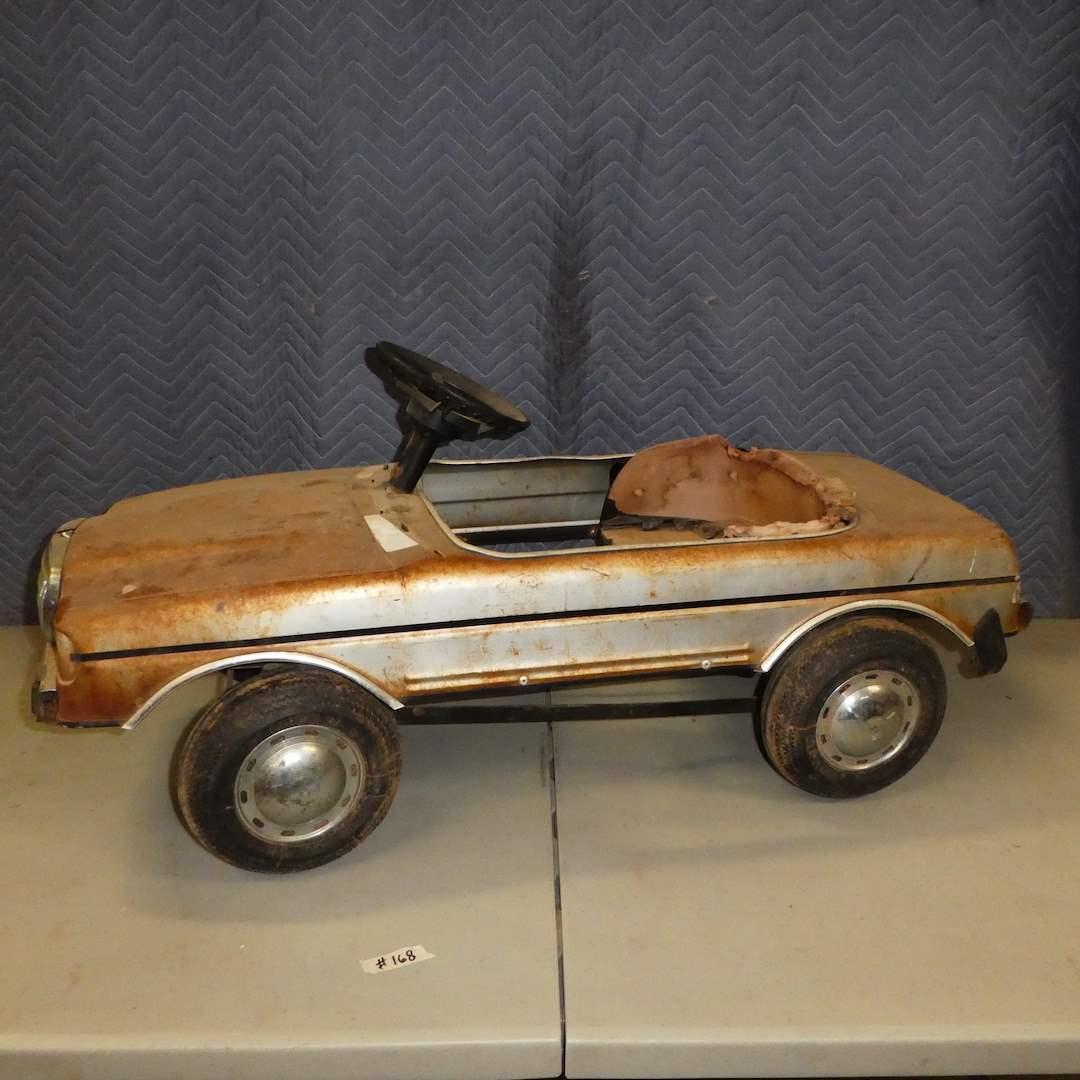 Lot # 168 - Vintage Mercedes Benz 500 sec Kids Toy Pedal Car (For Restoration) (main image)