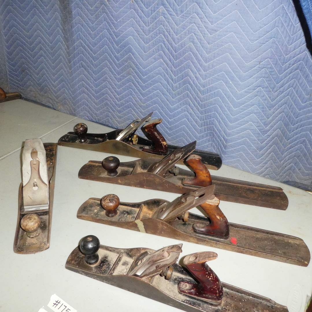 Lot # 175 - Antique Wood Working Tools (Planes) (main image)