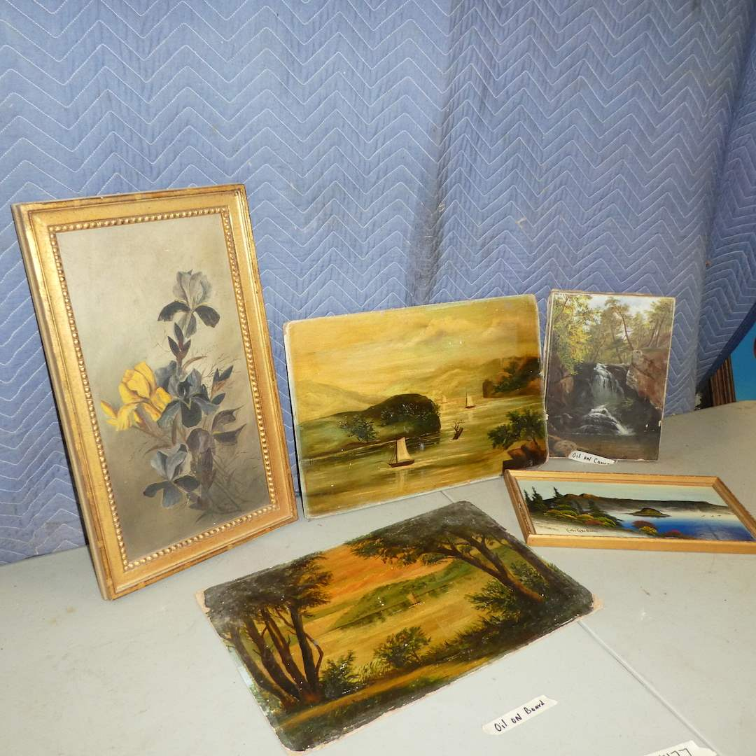 Lot # 177 - Variety of Oil on Board and Canvas Art (main image)