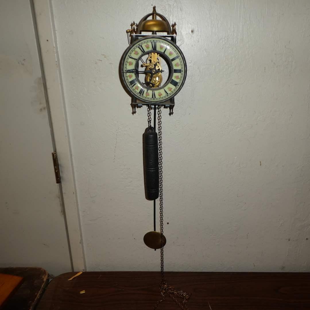 Lot # 180 - Adorable Vintage Skeleton Clock (Running) (main image)