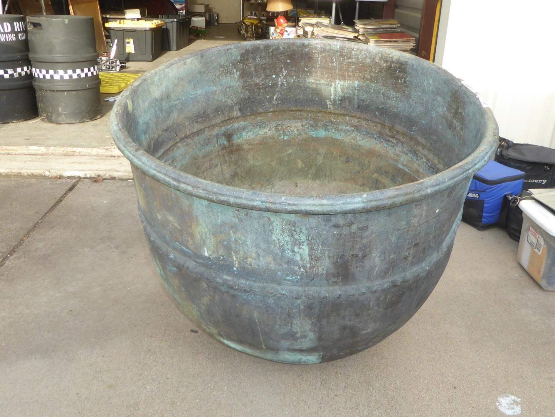 Lot # 100 - Very Large Vintage Copper Kettle (main image)