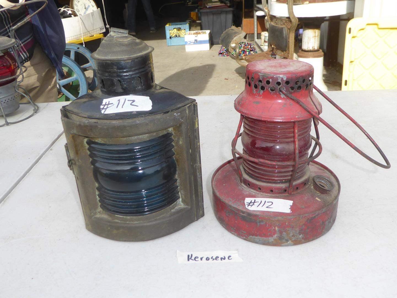 Lot # 112 - Two Vintage Kerosene Oil Lamps (main image)