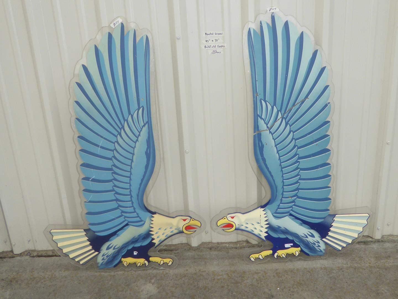 Lot # 114 - Pair Vintage Painted Lexan Richfield Eagles Advertising  (main image)