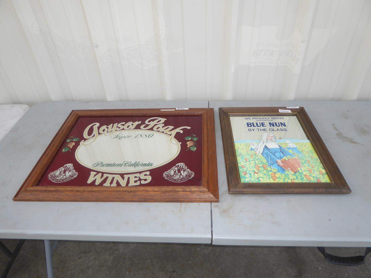 Lot # 162 - Two Vintage Wine Advertising Mirrors (main image)