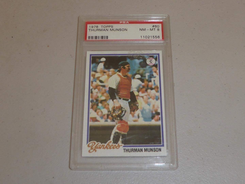Lot # 182 - 1978 Topps Thurman Munson Baseball Card Graded NM-MT 8 (main image)