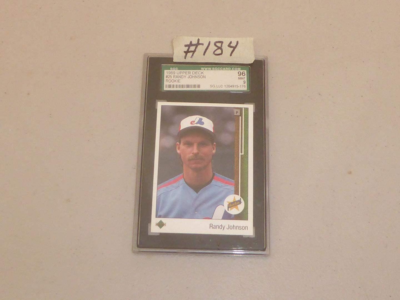 Lot # 184 - 1989 Upper Deck #25 Randy Johnson Rookie Card Mint 9 (main image)