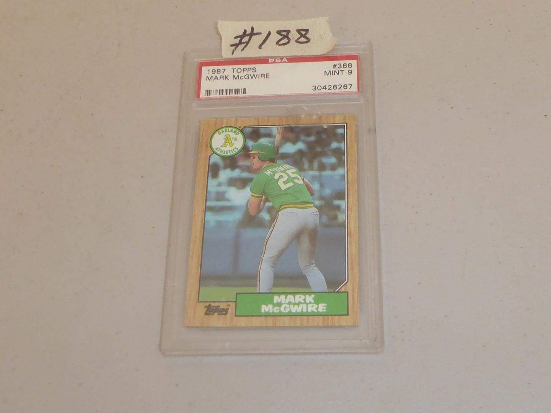 Lot # 188 - 1987 Topps Mark McGwire Baseball Card - Mint 9 (main image)