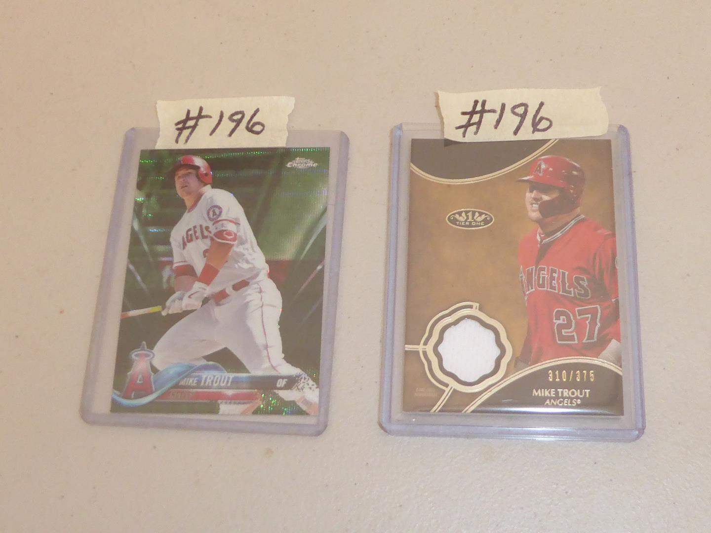 Lot # 196 - Two Mike Trout Baseball Cards  (main image)