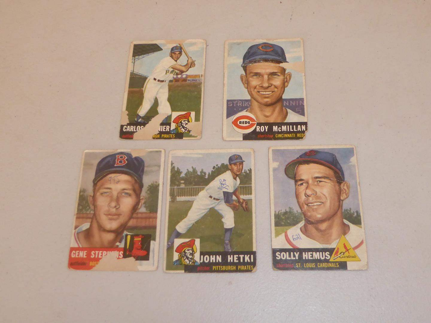 Lot # 198 - Five Vintage Topps Baseball Cards (main image)