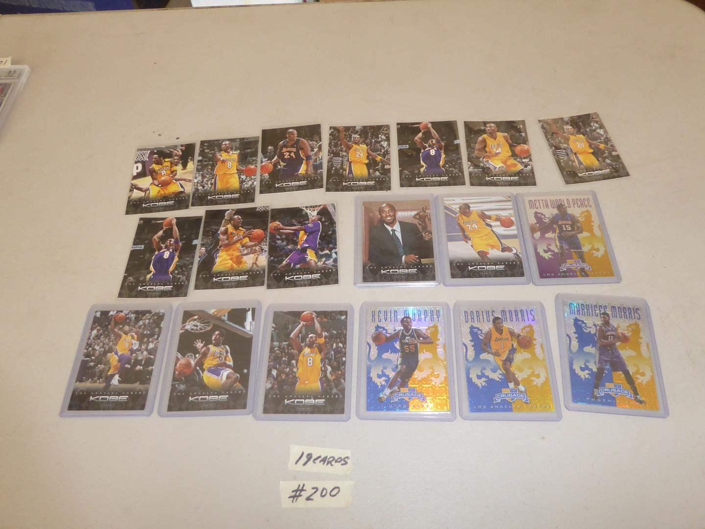 Lot # 200 - Kobe Bryant & Other NBA Basketball Cards (main image)