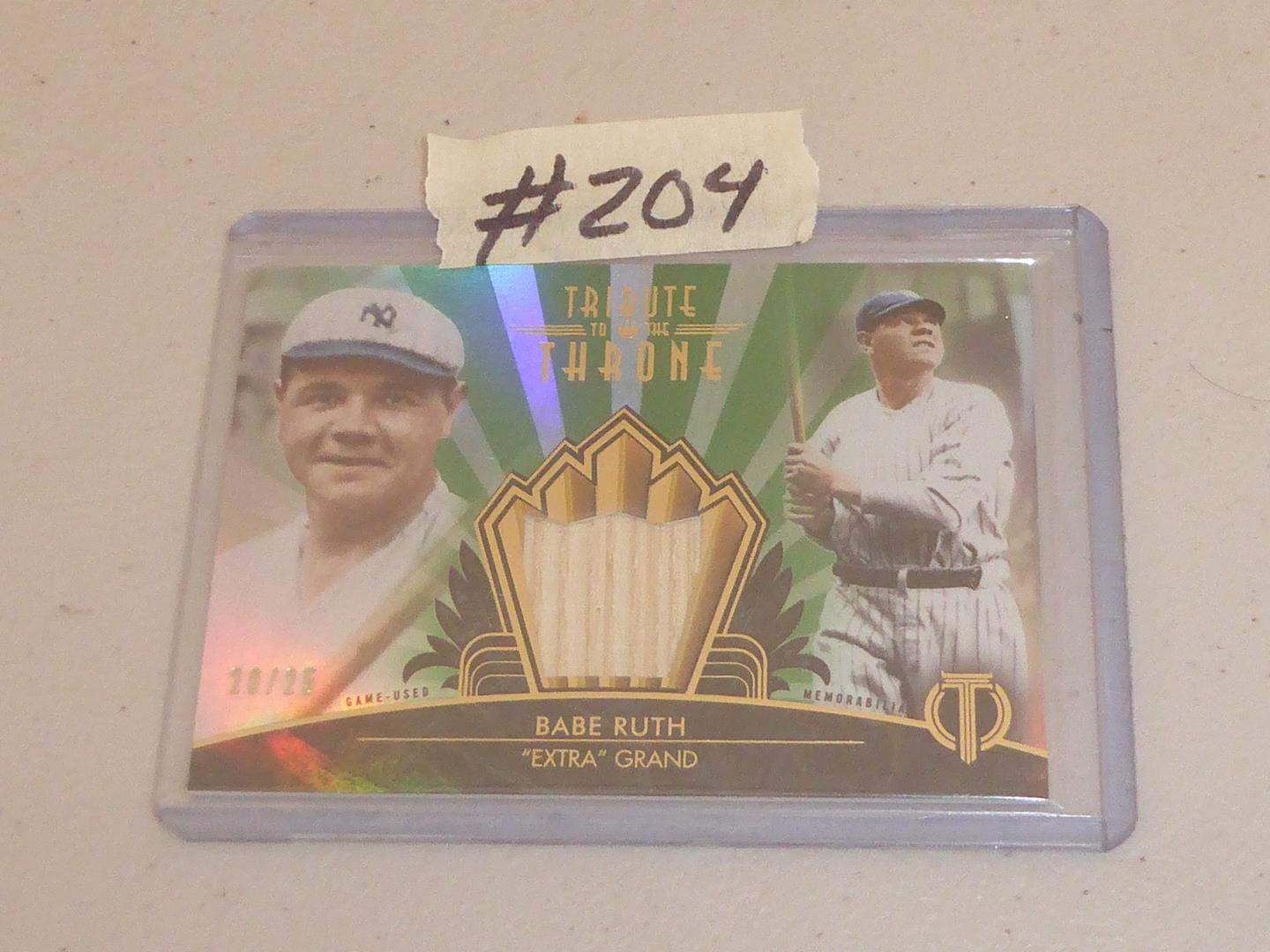 Lot # 204 - 2013 Topps Babe Ruth Relic Card (main image)