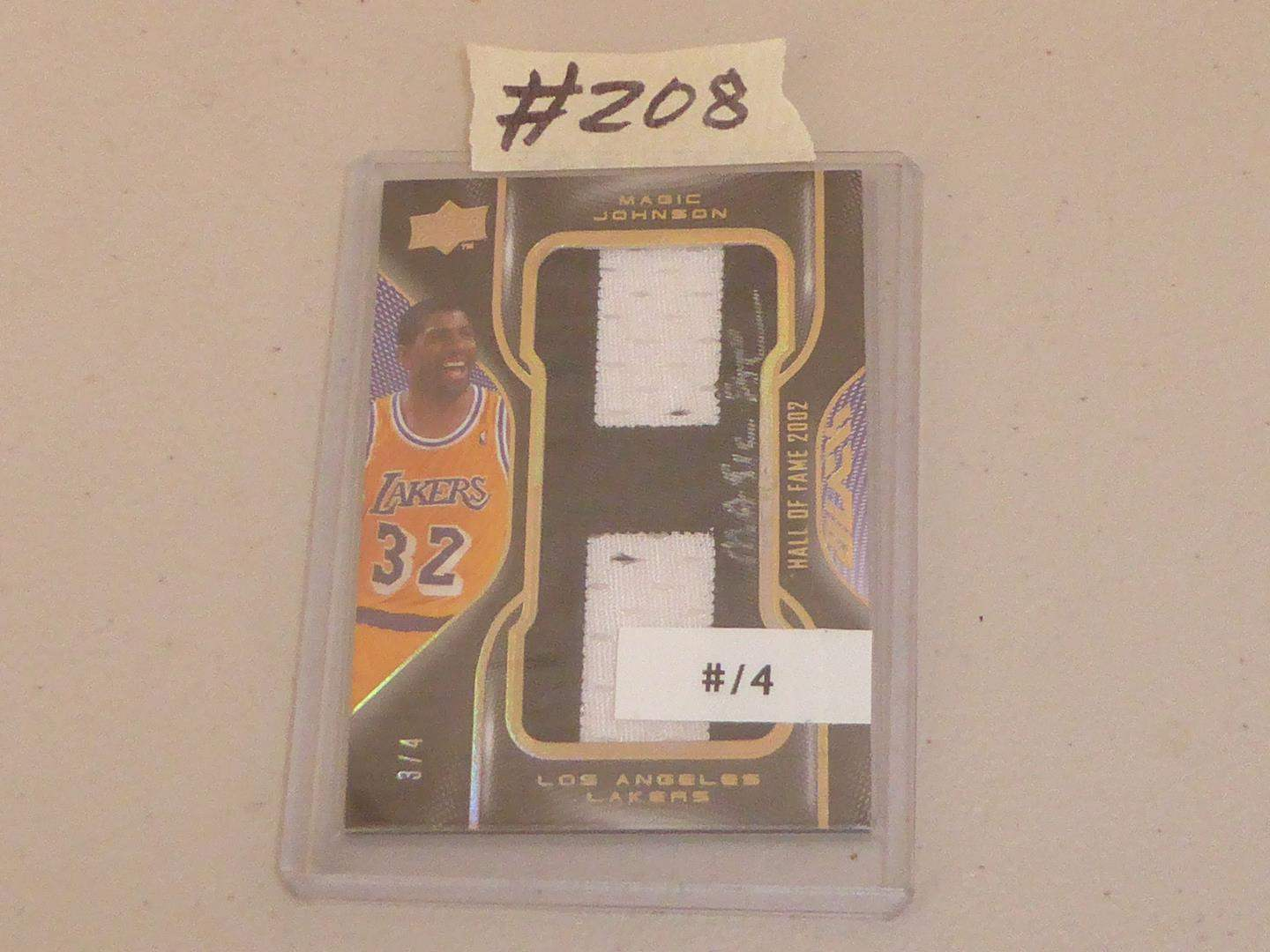 Lot # 208 - Upper Deck 2009 Magic Johnson Autographed Patch Card (main image)