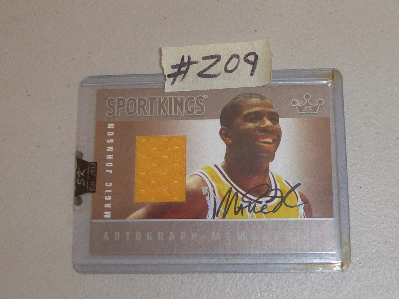 Lot # 209 - 2007 Sport Kings Autographed Magic Johnson Jersey Card (main image)
