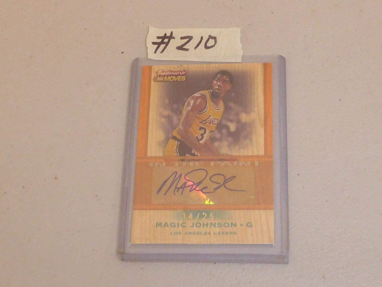Lot # 210 - Topps Magic Johnson 2007 Trademark Ink Autograph Basketball Card (main image)