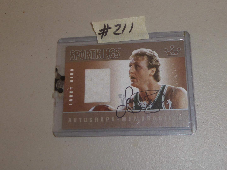 Lot # 211 - 2007 Sport Kings Autograph Larry Bird Jersey Card (main image)