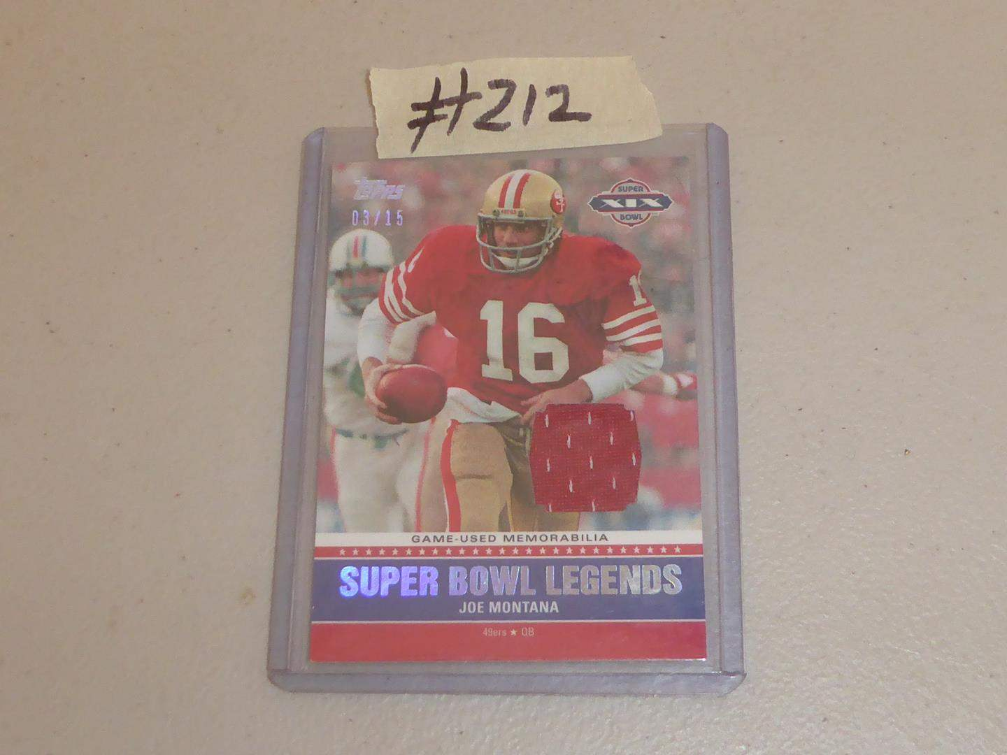 Lot # 212 - Topps 2011 Joe Montana Relic Card (main image)