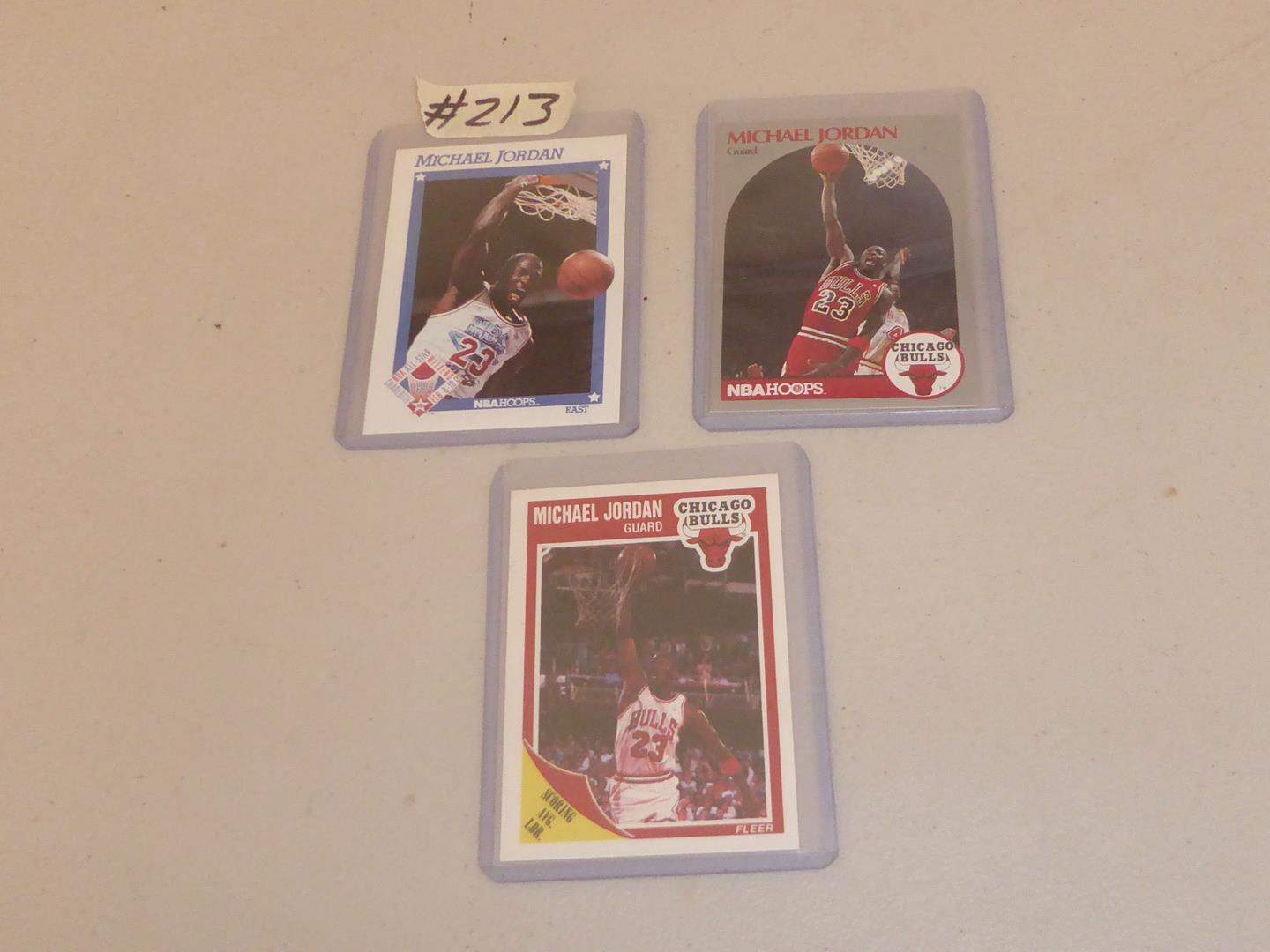 Lot # 213 - Three Michael Jordon NBA Basketball Cards (main image)