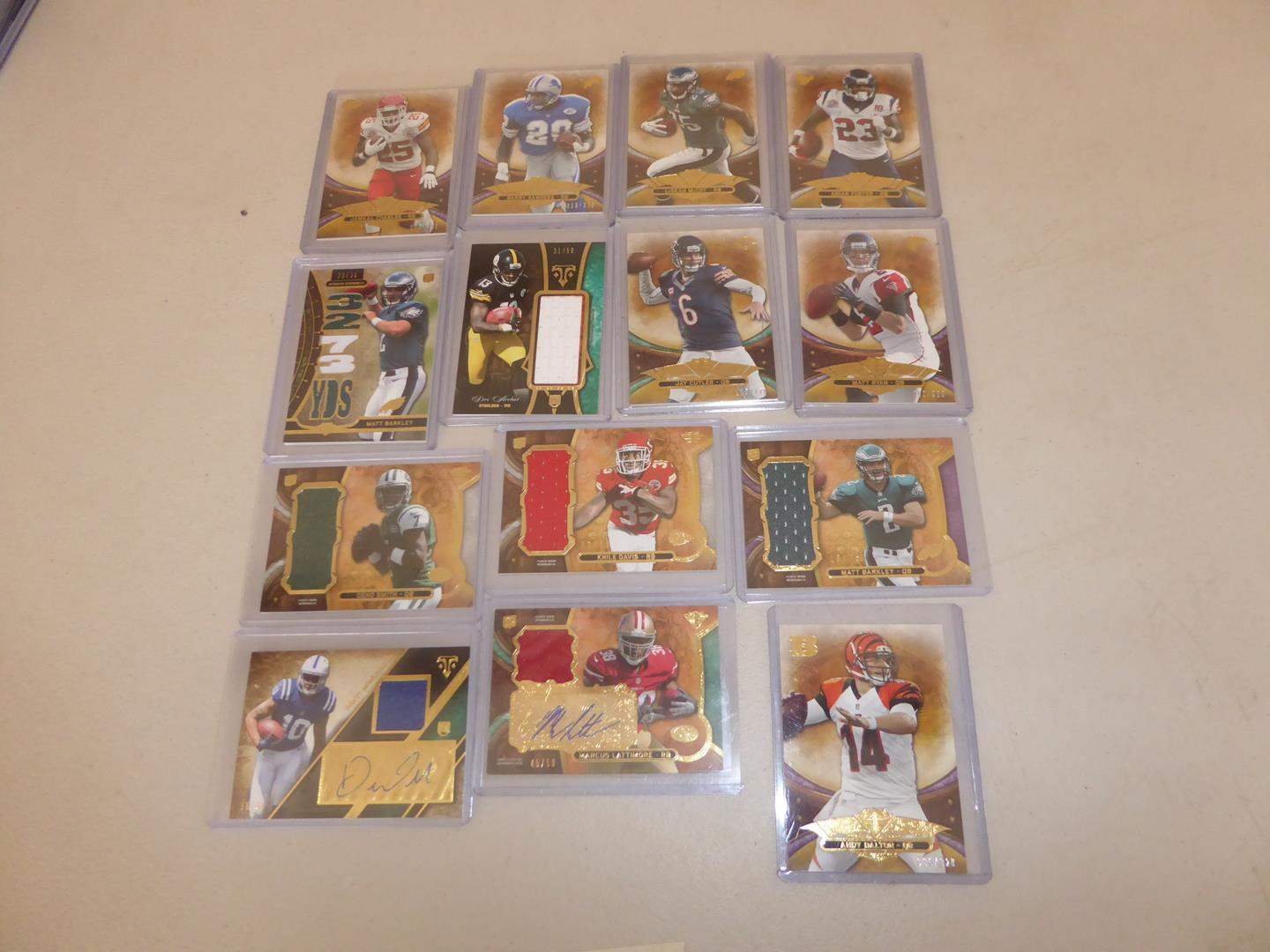 Lot # 226 - Fourteen Topps 2013 NFL Football Cards including Relic Cards (main image)