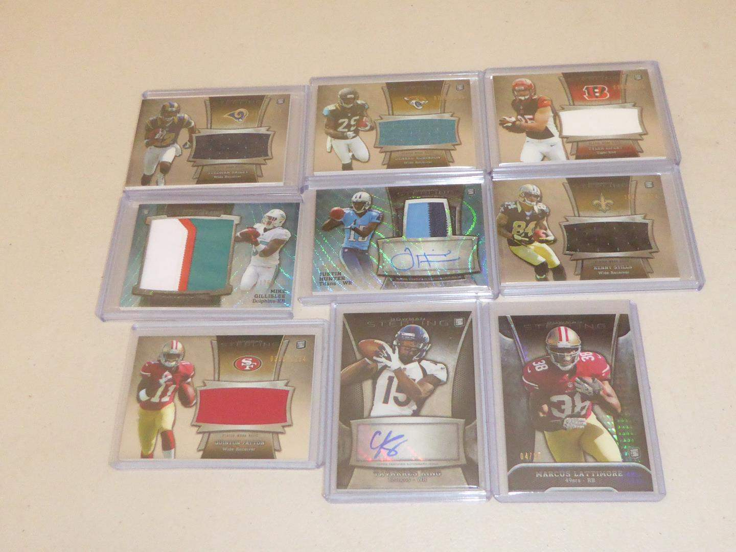 Lot # 227 - Nine Topps 2013 NFL Football Relic Cards (main image)