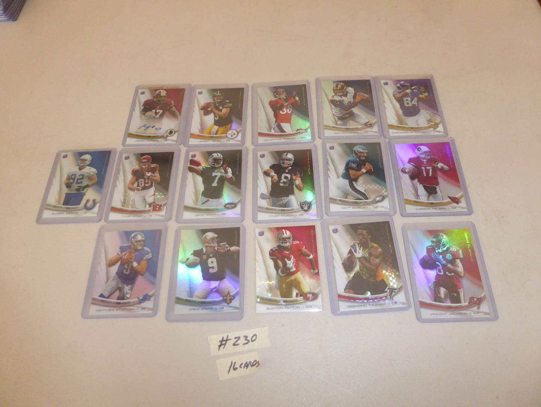 Lot # 230 - Sixteen Topps 2013 NFL Football Cards (main image)
