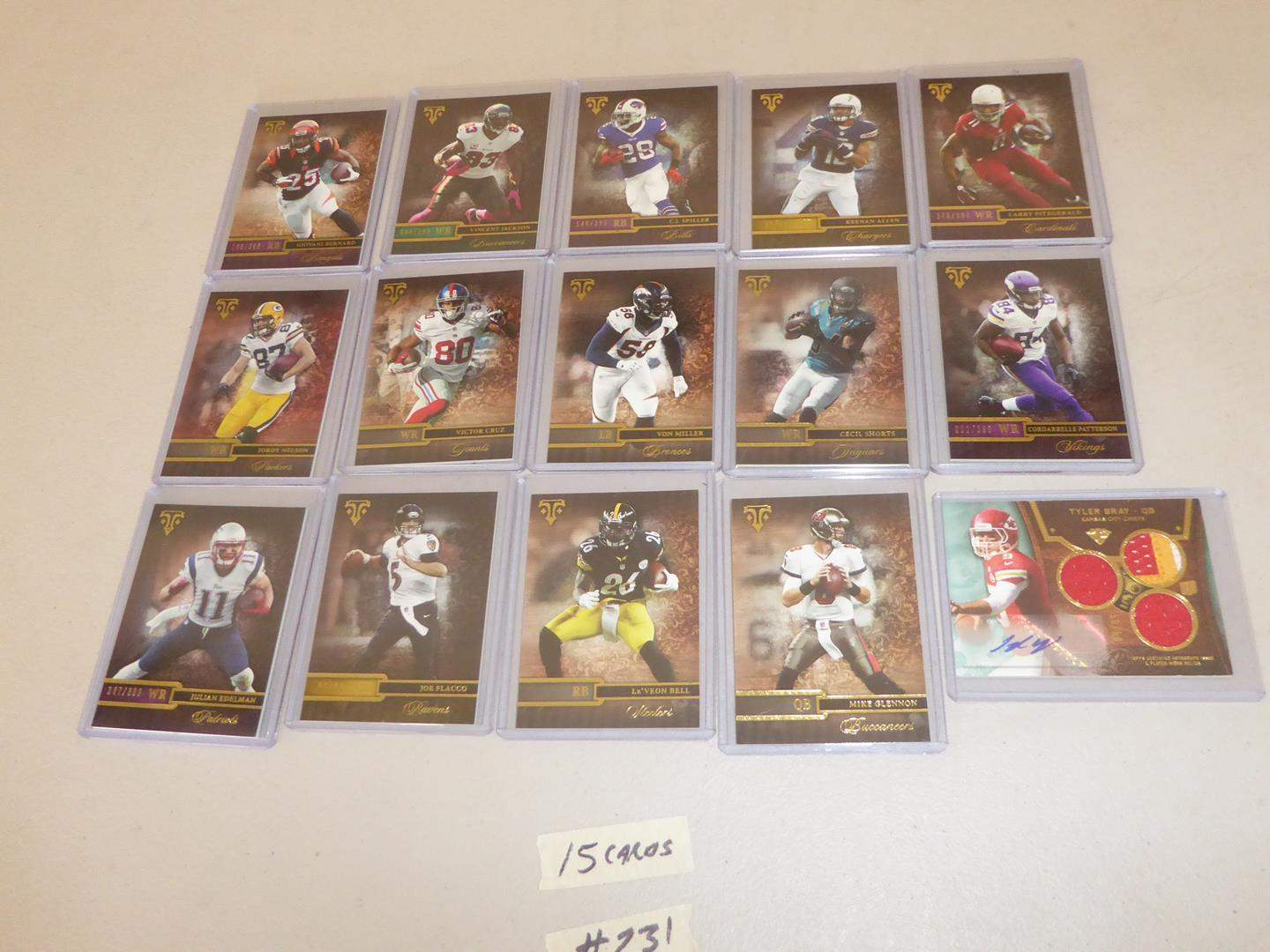 Lot # 231 - Fifteen Topps NFL Football Cards (main image)