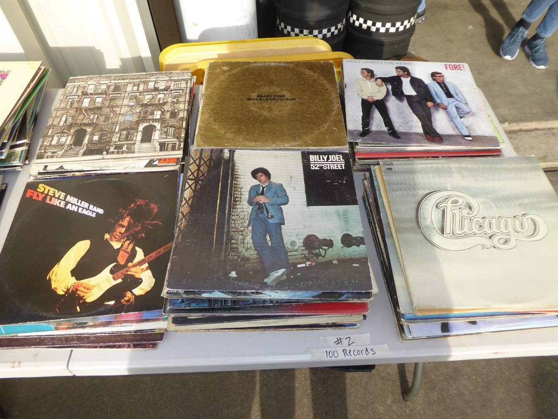 Lot # 2 - Lot Of 100 Rock Records   (main image)