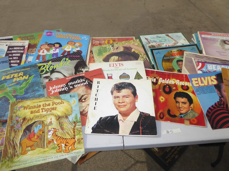 Lot # 5 - 50 Records (Vintage Rock & Roll, Disney, Kids Music & More)  (main image)