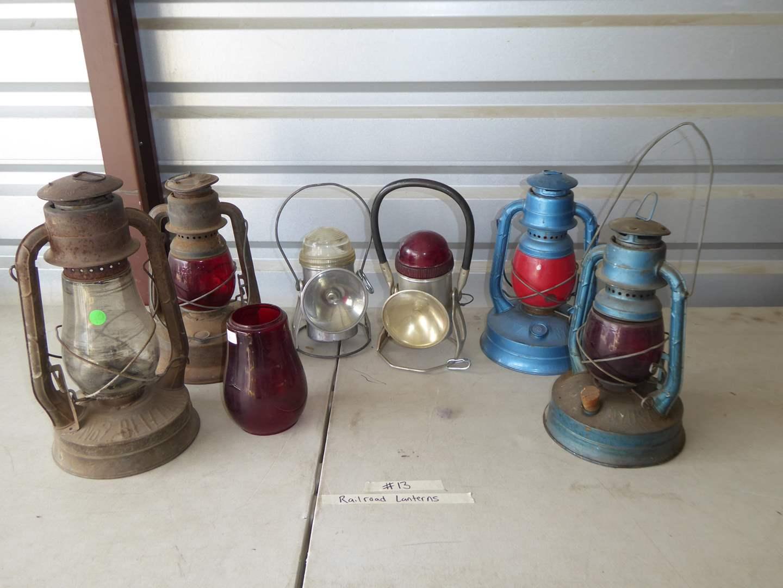 Lot # 13 - Vintage Railroad Lanterns  (main image)