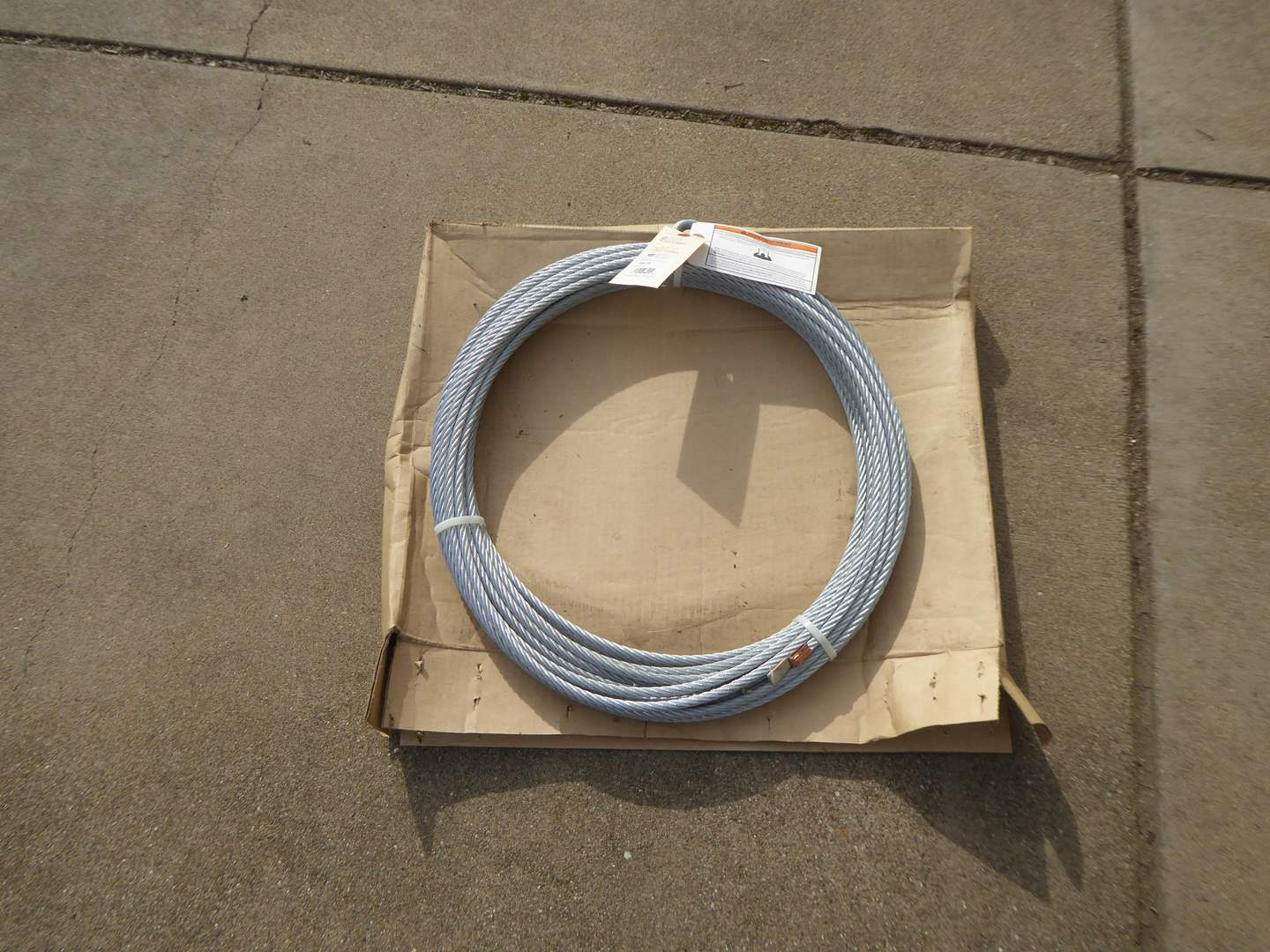 Lot # 15 - WARN Wire Rope 3/8 Inch X 94 Feet (main image)