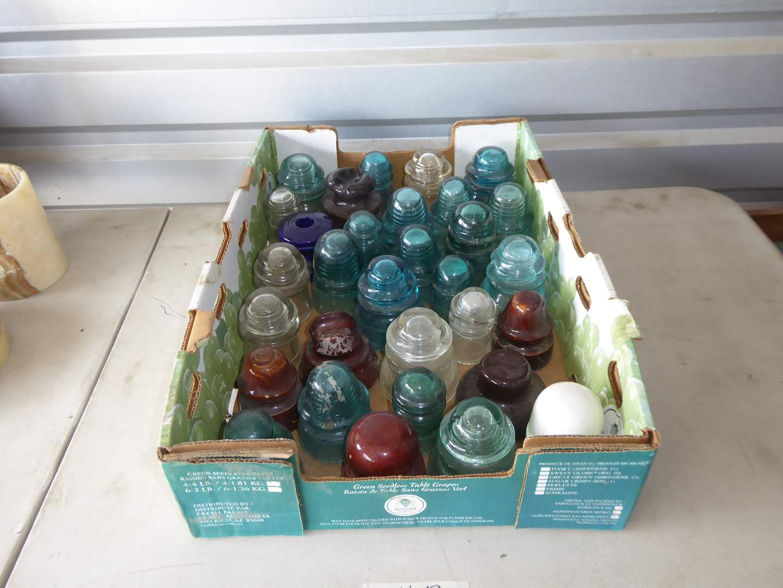 Lot # 19 - Vintage Glass Insulators  (main image)