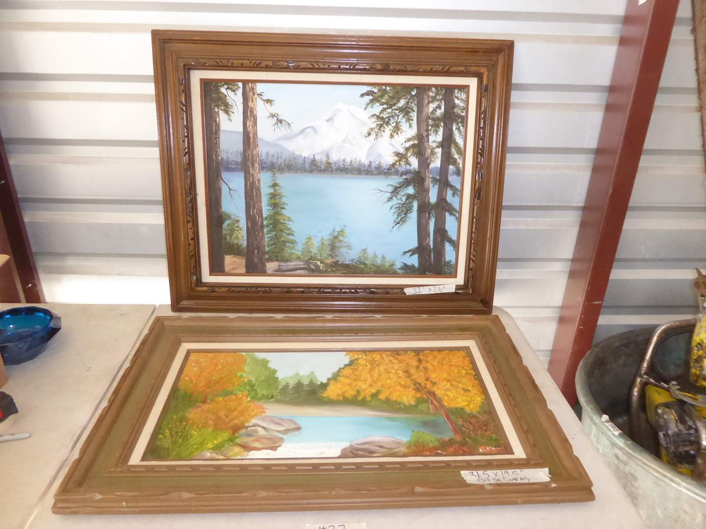 Lot # 27 - Two Framed Signed Oil On Canvas Art Pieces  (main image)
