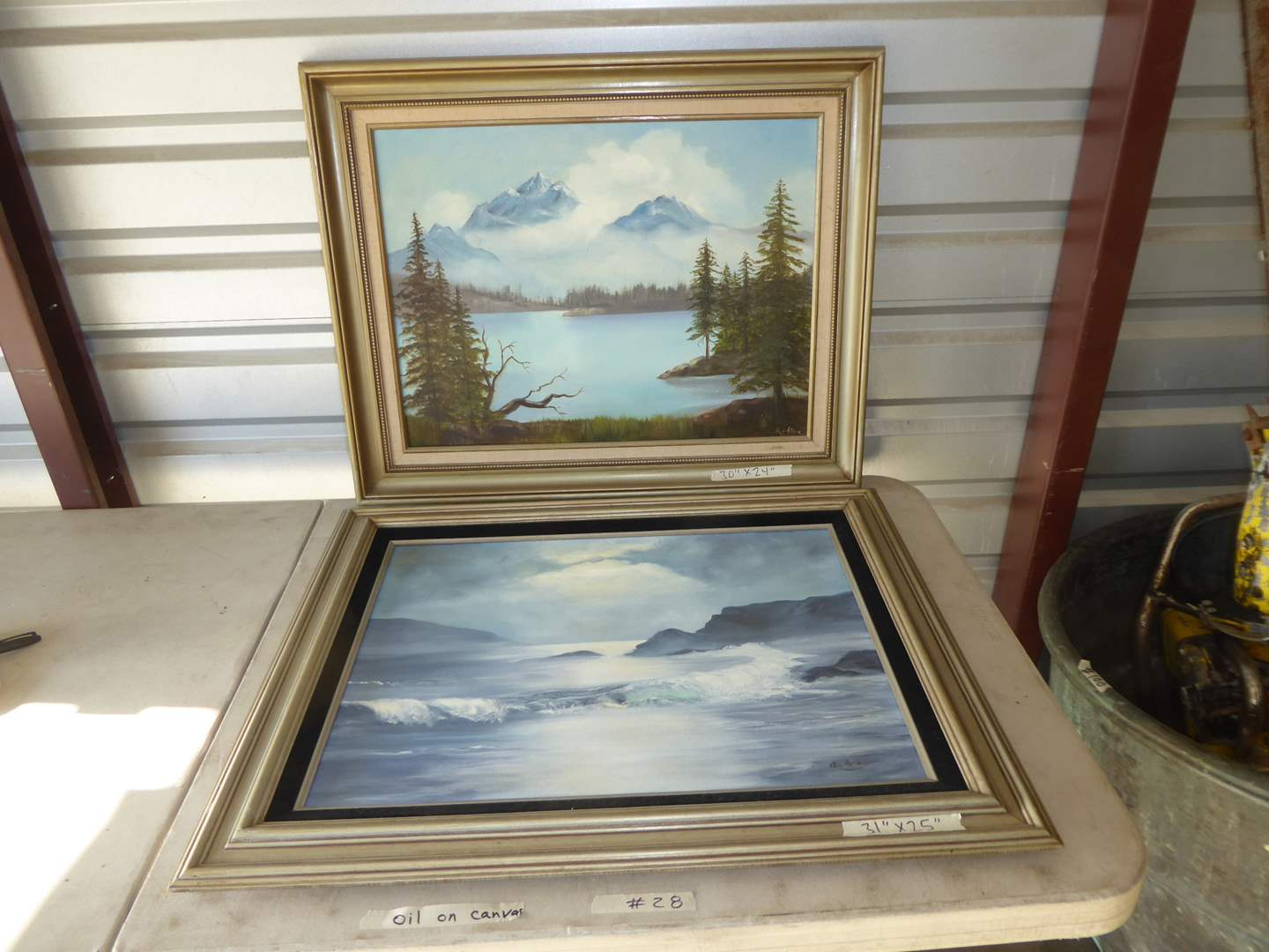 Lot # 28 - Two Framed Signed Oil On Canvas Art Pieces (main image)