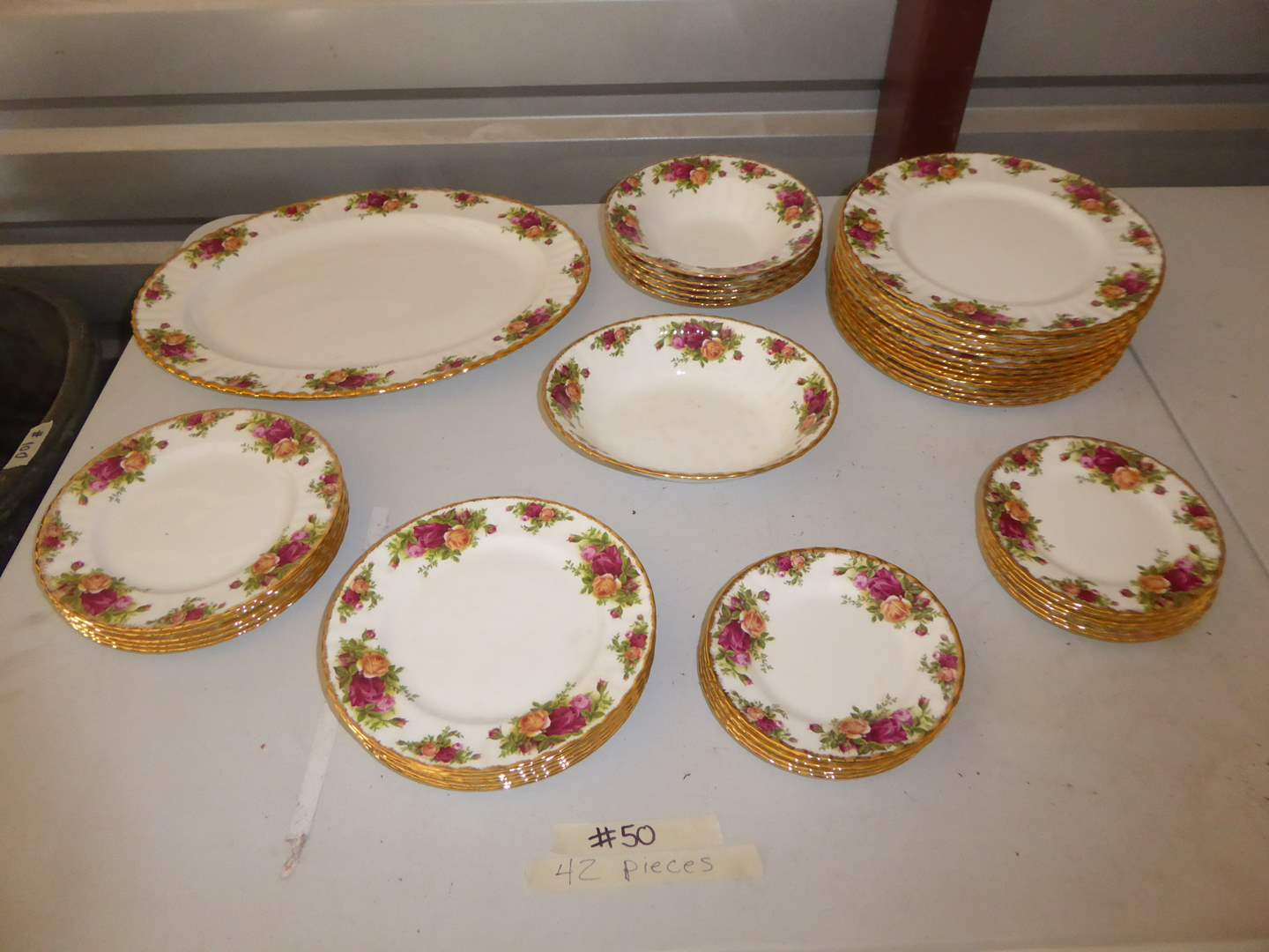 "Lot # 50 - Royal Albert ""Old Country Roses"" China  (42 PCS)  (main image)"
