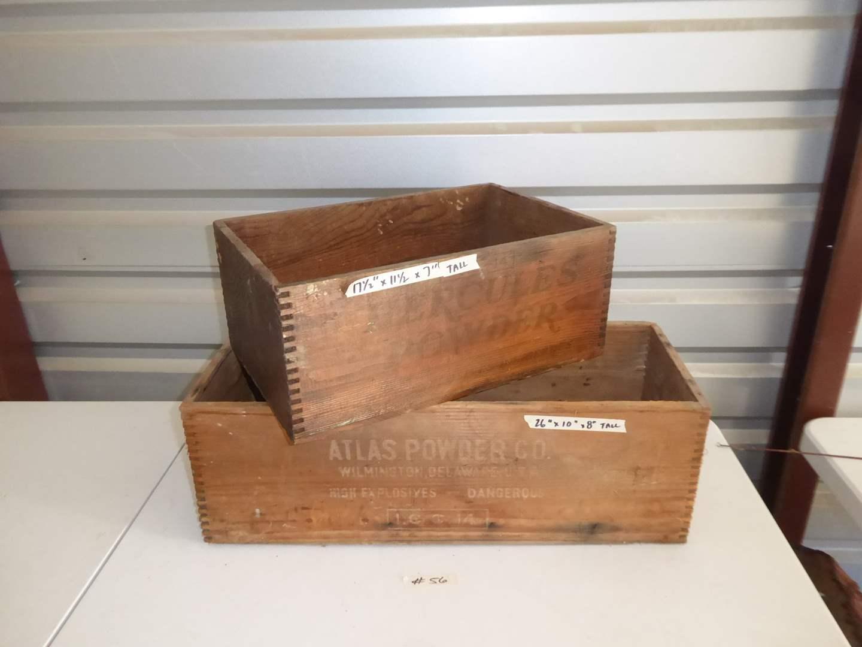 Lot # 56 - Vintage Atlas Powder Co. Box & Hercules Powder Box  (main image)