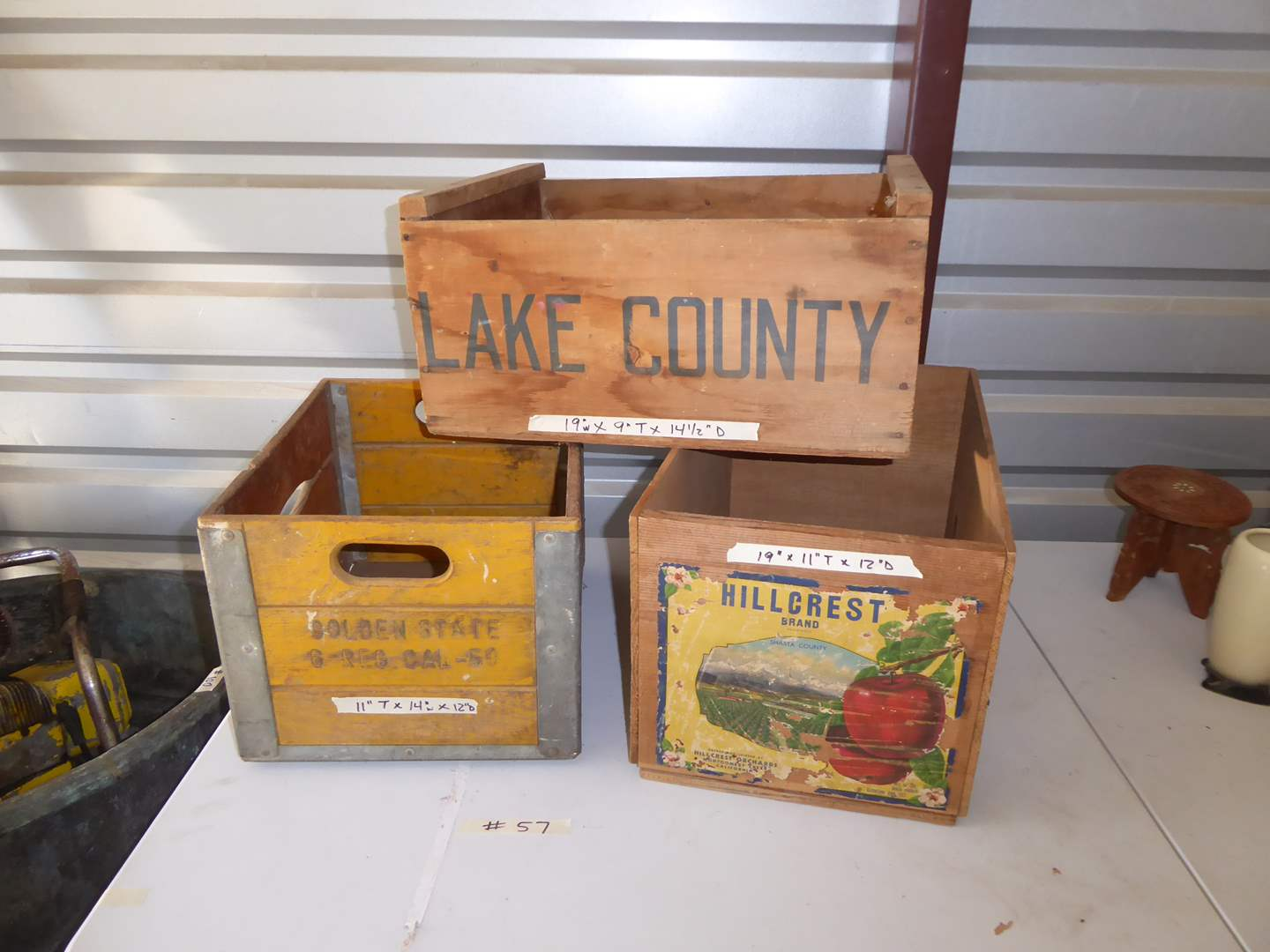 Lot # 57 - Vintage Wooden Boxes (Lake County, Golden State & Hillcrest)  (main image)