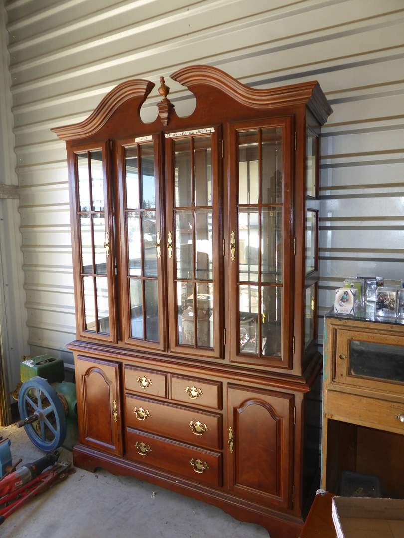 Lot # 63 - Large Two Piece Lighted Buffet  (main image)