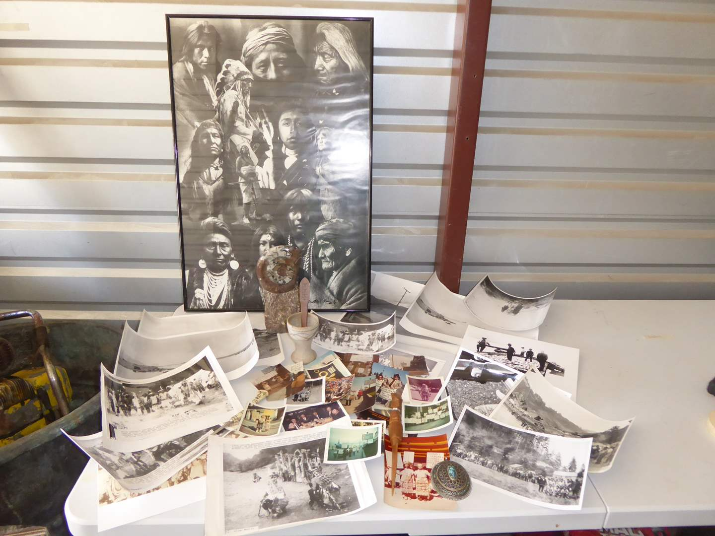 Lot # 66 - Fossil Trilobite, Native American Life Pictures & 1970's Protest Pics  (main image)